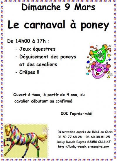 Carnaval à poney